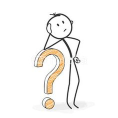 Strichmännchen, Männchen, Stickman, Fragezeichen, Grübeln, Frage