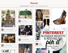 """@the blog stylist """"Ultimate Guide (Blogger Benefits and Adding the Pin It Button to Your Blog)"""