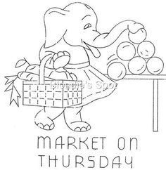 Image result for vintage elephant embroidery patterns