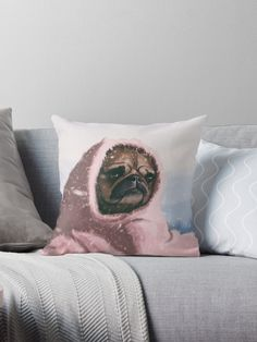« Find a Home»  Throw Pillow / Pug illustration by Lostanaw #throwpillow #pug #love #puglover #puppy #pets #cute #funny #redbubble    Este tierno Pug busca un hogar donde calentarse y ser amado • Also buy this artwork on home decor, apparel, phone cases y more.