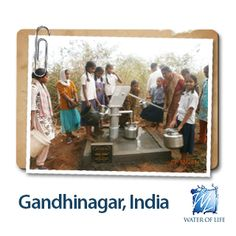 Gandhinagar, India: Fresh water has not just changed the health of the whole village, but has changed one man's antagonism to loving service for others.