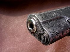 colt 1911 pistol engraved - LOVE