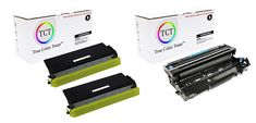 Contents: Package Contains 2 Replacement TN-460 Toner Cartridges, and 1 Replacement DR-400 Drum Unit  Replaces OEM#: TN-460, DR-400  Page Yield: 6,000 pages per Cartridge and 20,000 pages per Drum Unit at 5% coverage per page.  Package Quantity: Three Pack  Works with: Brother HL-1030, 1230, 1240, 1250, 1270N, 1435, 1440, 1450, 1470N, DCP-1200, 1400, Intellifax-4100, 4100E, 4750, 5750, 5750E, MFC-8300, 8500, 8600, 8700, 9600, 9650, 9700, 9800, 9850, 9860, P2500