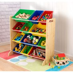 Primary Colors Kids Storage Organizer | Overstock.com Shopping - The Best Deals on Kids' Storage