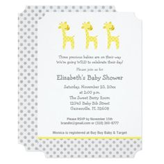 299 Best Triplets Baby Invitations