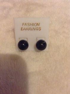 Vintage Black Fashion Earrings #1028