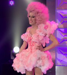 Alaska Thunderfuck in her cotton candy couture