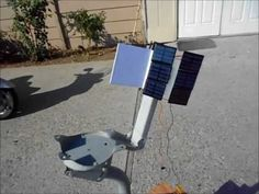 ▶ Home-made Solar Tracking System with no electronics for solar panel or solar oven - YouTube