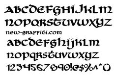 Free Download Graffiti Font Style Celtic Cry Uncial