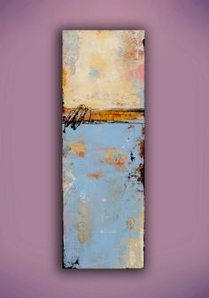 Acrylic mixed media Painting on wood por erinashleyart en Etsy