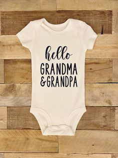 Hello Grandma Foster Cat, Foster Kittens, White Bodysuit, Baby Bodysuit, Baby Girl Gifts, Baby Boy, Stuck In My Head, First Birthday Outfits, Grandma And Grandpa