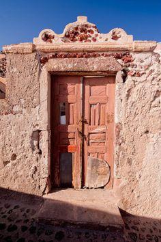 Adobe door in Santorini,Greece. - Photo by Angie McMonigal