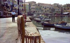 Harbour of Chania 1977.Photo by glavind