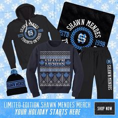 Shawn Mendes winter merchandise   Link: http://smarturl.it/ShawnMendesShop
