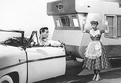 "Lucy and Desi trailer from ""The long long trailer"""