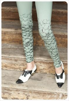 Sage Green Leggings  Mermaid Tail Leggings Mermaid by Carouselink,