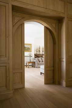 arched pocket doors - just beautiful