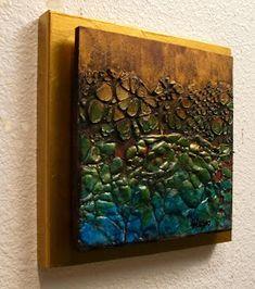 "CAROL NELSON FINE ART BLOG: ""TIDEPOOL"" 11038 daily painter mixed media contemporary abstract © Carol Nelson Fine Art"