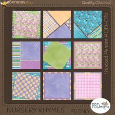 Nursery Rhymes Stacked Papers Add-On Kit