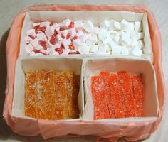 home made candy box.