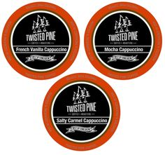 Twisted Pine Cappuccino Variety Pack, K-Cup Sampler Pack, Single-Serve Cups for Keurig Brewers, 24 Count >> Additional details at the pin image, click it : K Cups French Vanilla Cappuccino, Caramel Cappuccino, Coffee Varieties, K Cups, Coffee Roasting, Keurig, Coffee Cake, Drinking Tea, Gourmet Recipes