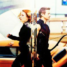 Black Widow + Hawkeye (Clint Barton + Natasha Romanoff)