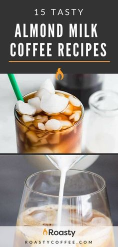 For people looking for a healthier coffee drink, check out our 15 tasty almond milk coffee recipes to help you get started. These dairy free, vegan and paleo friendly coffee drinks are delicious as they are satisfying. Source by roastycoffee Drink Almond Milk Creamer, Almond Milk Latte, Chocolate Almond Milk, Iced Coffee Almond Milk Recipe, Coffee With Almond Milk, Almond Drink Recipe, Smoothies With Almond Milk, Easy Smoothies, Healthy Coffee Drinks