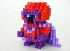 Marvel hero Magneto perler beads figure