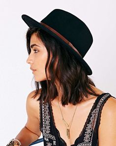 Brixton Messer Panama Hat in black be409223d05a