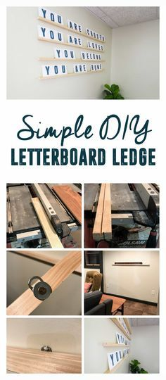 DIY Letterboard Ledge, How to Build a Letterboard Ledge, DIY Letter Board Ledge, Oversized Letterboard, How to Build a letterboard, DIY Letterboard Shelves