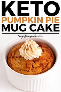 Keto Pumkin Pie Mug Cake with only net carbs per serving! Gluten-free, suga… Keto Pumkin Pie Mug Cake with only net carbs per serving! Gluten-free, sugar-free and low carb! Ready in 5 minutes – the best keto snack or keto dessert! Keto Pumpkin Pie, Healthy Pumpkin, Pumpkin Dessert, Pumkin Pie, Sugar Free Pumpkin Pie, Canned Pumpkin, Pumpkin Puree, Keto Cake, Keto Cheesecake