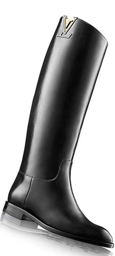 Louis Vuitton ~ Black Leather Boot