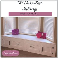 DIY Built-in Window Seat With Drawer and Cabinet Storage