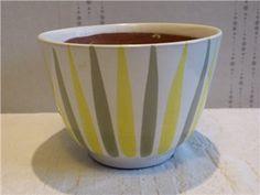 Ekeby//Retro/1950-tal/Kruka/Blomkruka Stig Lindberg, Uppsala, Porcelain Ceramics, Retro, Potted Plants, Pots, Pottery, Tableware, Design