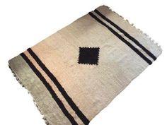 Navajo Style Wool Rug - 4′8″ × 6′9″ on Chairish.com