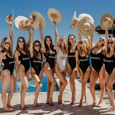 Bachelorette parties 858146903983827952 - Bridesquad Bachelorette Party Swimsuit/One Piece Bridesmaid Swimsuit/ Beach Bridesmaid Party Gifts/ Tropical Bachelorette(ONE PIECE BIKINI) Source by thetropicalweddingetsy Bridesmaid Swimsuit, Beach Bridesmaids, Beach Bachelorette, Bachelorette Party Themes, Bachelorette Itinerary, Bride Squad Swimsuit, Honeymoon Swimsuit, Strand, Photos