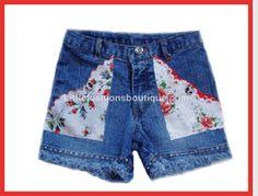 My Vintage Baby Vintage Hanky Pocket Shorts w/Crystals $72