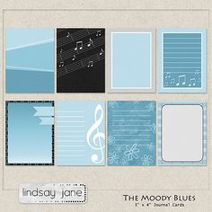 Free The Moody Blues Journal Cards from Lindsay Jane {on Facebook for a limited time}