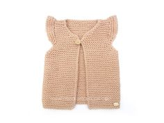 Learn How to Make this Knitted Girly Vest for a Baby. FREE Step by Step Pattern & Tutorial. Free Childrens Knitting Patterns, Easy Scarf Knitting Patterns, Baby Cardigan Knitting Pattern Free, Crochet Vest Pattern, Crochet Shirt, Knitting For Kids, Baby Patterns, Free Knitting, Free Pattern