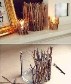 Twig Candle DIY
