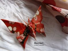 Butterfly made from yuzen washi paper.