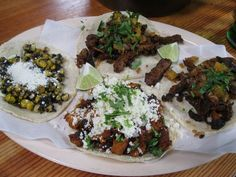 2 Al pastor, one corn and one pork belly tacos from Big Star
