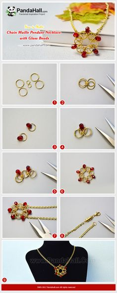 #PandaHall Inspiration Project---#ChainMaille #PendantNecklace with #GlassBeads Do you know how to make a #flower pendant necklace just with #jumprings and #abacus glass beads? Today we will teach you to make an easy flower pattern chain maille pendant necklace. #freetutorial #howto #jewelrymaking #diynecklace PandaHall Beads App Privilege: 1% OFF for all products,download here>>>goo.gl/GuHxN1 when you first time join Pandahall, you can get $5 free coupon cash.