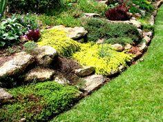 Znalezione obrazy dla zapytania kompozycja z kamieni w ogrodzie