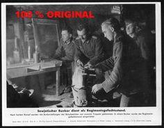 orig. WK2 PRESSE FOTO - PRESSEBILD von 1941 - GEFECHTSSTAND IM RUSSISCHEN BUNKER