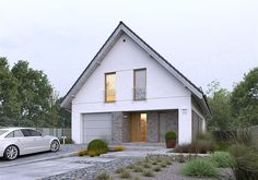 Zdjęcie projektu Dostępny 4A WAW1083 Tudor House Exterior, Home Office Design, House Design, Norwegian House, House Extension Design, Bungalow Renovation, Two Storey House, House Extensions, Facade House