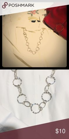 "18"" Silver Necklace- Need a touch of silver to to complete your look? This is the piece for you! Can be worn long or short. Please ask any questions! Jewelry Necklaces"