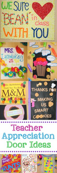 Teacher appreciation door decorating ideas.