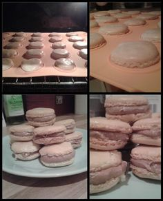 Macarons with a chocolate buttercream filling - first batch of 2014