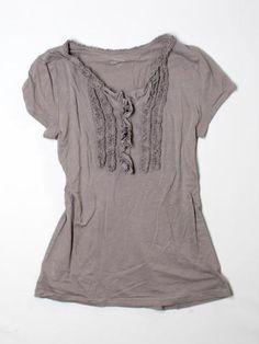 I love this Ann Taylor LOFT Henley, Short Sleeve Sm!